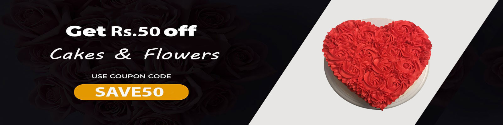 Special  Discount on cake & flowers