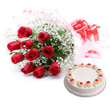 10 roses with enjoy pineapple cake