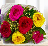 6 Mix Roses Bunch