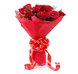 8 Red Roses Bunch
