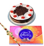 Black forest cake, Cadbury celebration with Rakhi