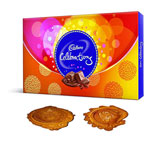 Cadbury box with 2 Diyas
