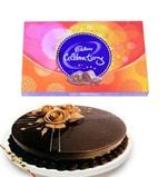 Chocolate Truffle cake, Cadbury celebration with Rakhi