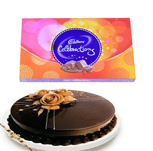 Chocolate Truffle cake, Cadbury celebration with Rakhi
