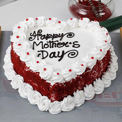 Heart Shape Black Forest Mothers Day Cake Shopnideas