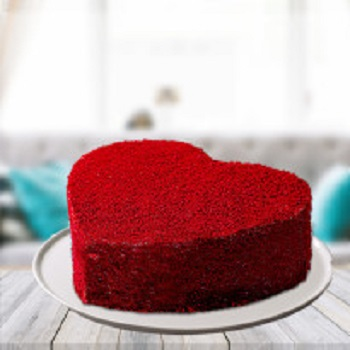 love one Red Velvet Heart Cake