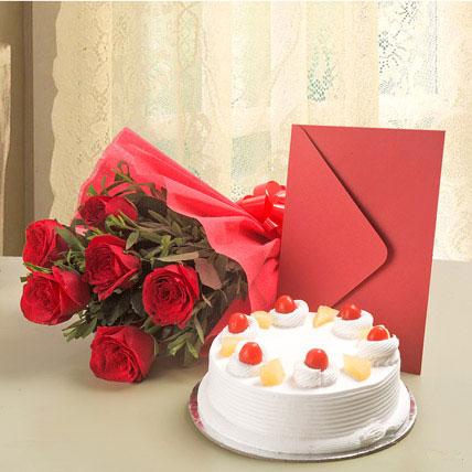 Roses N Cake Hamper Combo