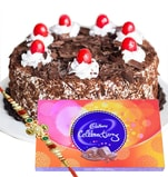 Special Black forest cake, Cadbury celebration with Rakhi