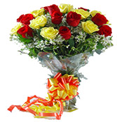 18 Mix Roses Bouquet Online delivery in Surat - Shopnideas