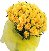 20 Yellow Roses Bouquet Online delivery in Vadodara - Shopnideas