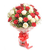 25 Mix Roses Bouquet Online delivery in Surat - Shopnideas