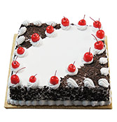 Black Forest Cake Square Shape Online delivery in Nagpur - Shopnideas