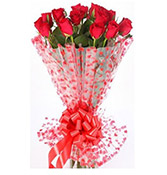 12 Red Rose Bouquet Online delivery in Vadodara - Shopnideas