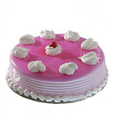 Strawberry Cake Eggless