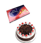 500gm Black Forest With Chocolate Box Online delivery in Wardha - Shopnideas