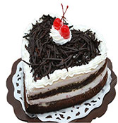 Black Forest Heart Shape Cake Online delivery in Nagpur - Shopnideas