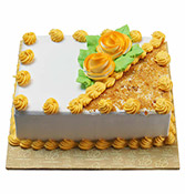 Butterscotch Square Shape Cake Online delivery in Nagpur - Shopnideas