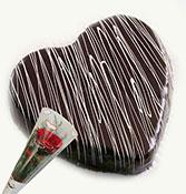 half kg chocolate cake with single rose