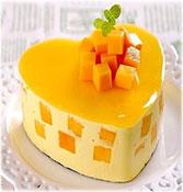 Heart Mango Cake