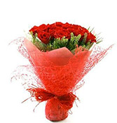 18 Flower Beautiful Bouquet Red Roses delivery in Rajkot