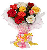10 Flower Beautiful Roses delivery in Wardha
