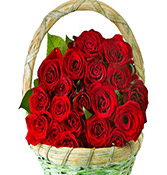 18 Red Roses Flower Beautiful Bouquet delivery in Rajkot