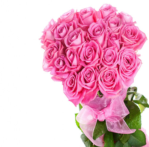 18 Royal Bouquet Pink Roses Online delivery in Wardha - Shopnideas