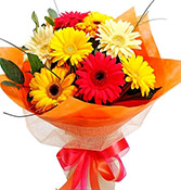 10 Flowers Mix Gerberas Bouquet Online delivery in Wardha - Shopnideas