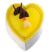 Pineapple Heart Shape Cake Online delivery in Nagpur - Shopnideas