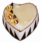 Heart Shape Butterscotch Cake Online delivery in Nagpur - Shopnideas