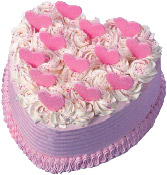 Vanila Heart Shape Cake delivery in Wardha
