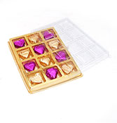 12 Heart shape chocolate