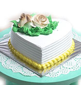Heart Vanilla Cake Online delivery in Nagpur - Shopnideas