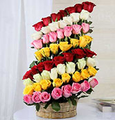 Colorful Feelings - 60 Mixed Roses Online delivery in Nagpur - Shopnideas