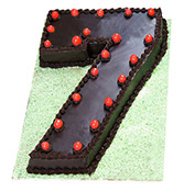 1 To 10 Number Cake Online delivery in Nagpur - Shopnideas