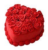 Red Heart Cake delivery in Surat
