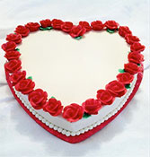 Red Heart Shape Cake delivery in Wardha