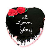Chocolate Heart Cake  delivery in Surat